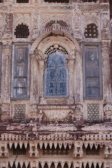 オリエンタルスタイルの建築家砂の装飾品の建物インドの旅行写真