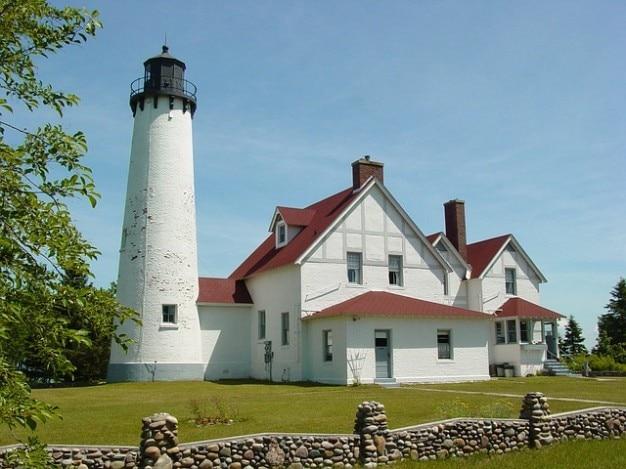 Architecture lighthouse michigan upper peninsula