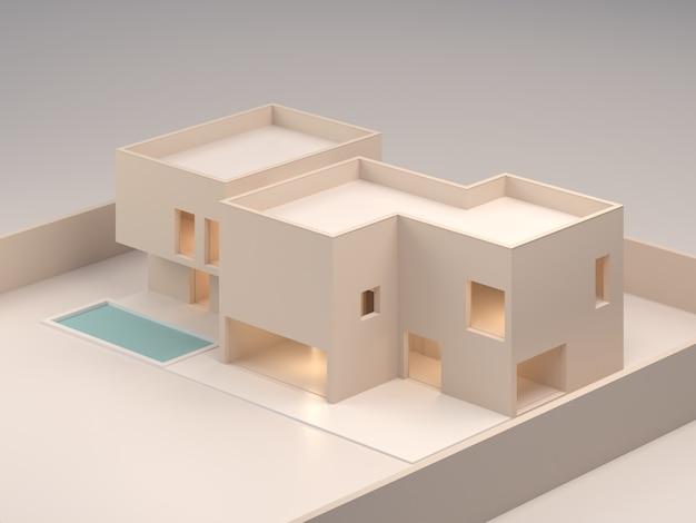 Архитектурная модель изолированная модель дома для продажи недвижимости или строительной продукции дизайн жилищной архитектуры студия модели 3d визуализации