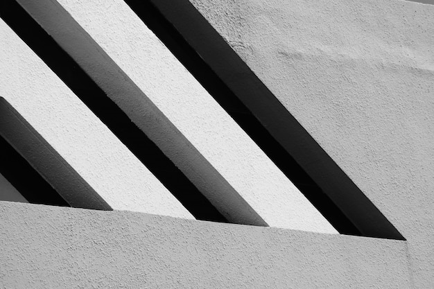Architecture of modern building pattern black and white
