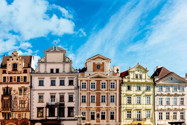 プラハの建築。チェコ。アーキテクチャの概念 Premium写真