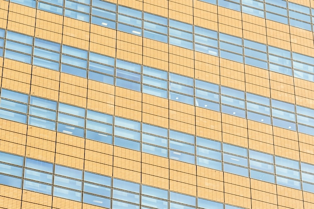 Architecture office building with glass window textures
