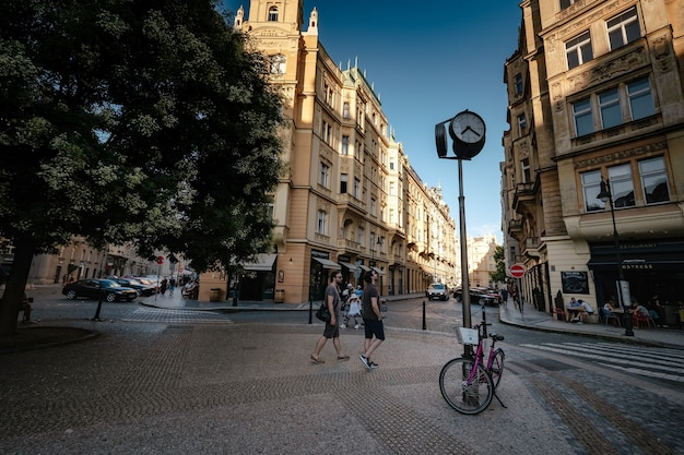 The architecture of the old city of prague