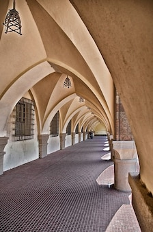 Architecture portico rhodes vaults building greece