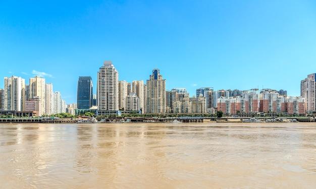 浙江省温州の建築スカイライン