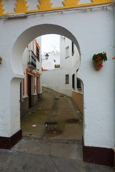 Archway at  picturesque street olvera