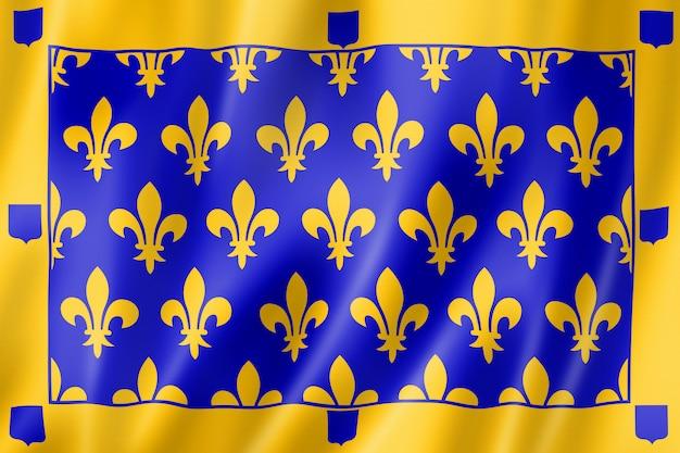 Ardeche county flag, france