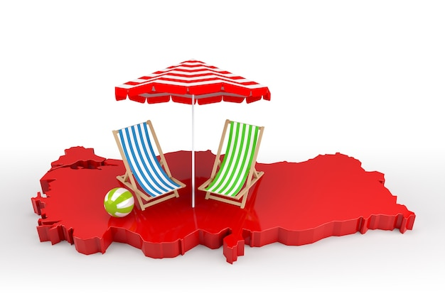 Are you ready for the summer holidays in turkey?. 3d rendering