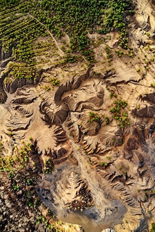 Площадь вид песчаные холмы озера реки местность