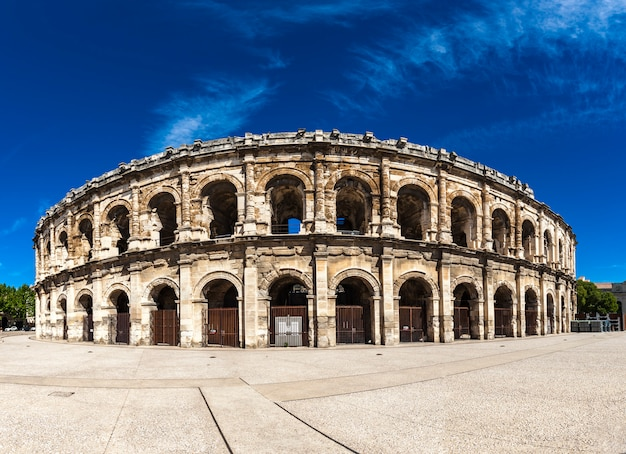 Arena of nimes, roman amphitheater in france