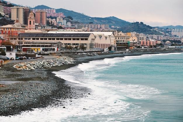 Arenzano city and beach