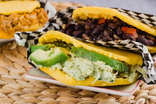 Арепас крупным планом, типичное блюдо из венесуэлы