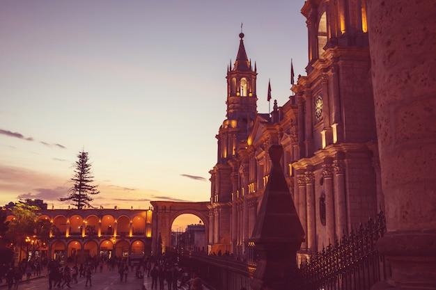 Город арекипа в перу, южная америка