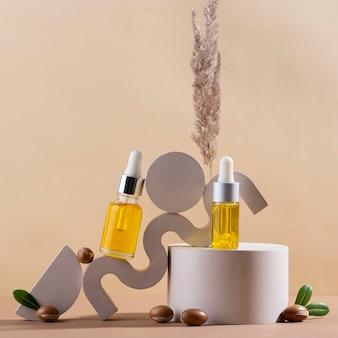 Argan oil in dropper bottle