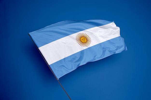 Argentina flag on the background