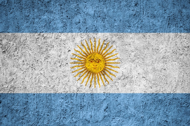 Argentina flag painted on grunge wall