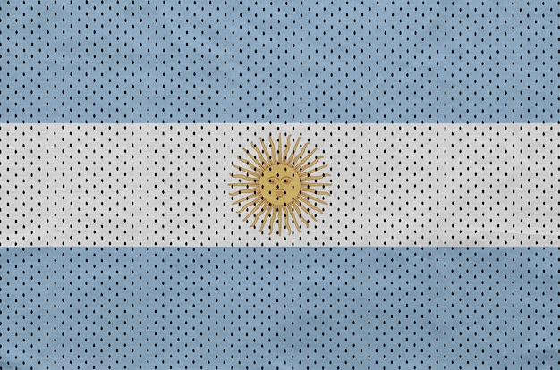 Argentina flag printed on a polyester nylon sportswear mesh fabric