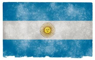 Аргентина гранж грязный флаг