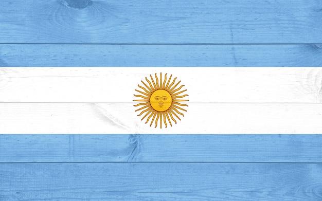 Argentina grunge wooden flag background