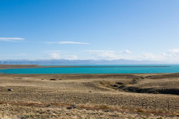 エルカラファテ、パタゴニア、アルゼンチンからのアルゼンチン湖の眺め。パタゴニアの風景