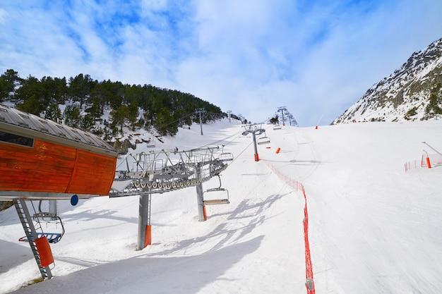 Arinsal ski resort in andorra pyrenees