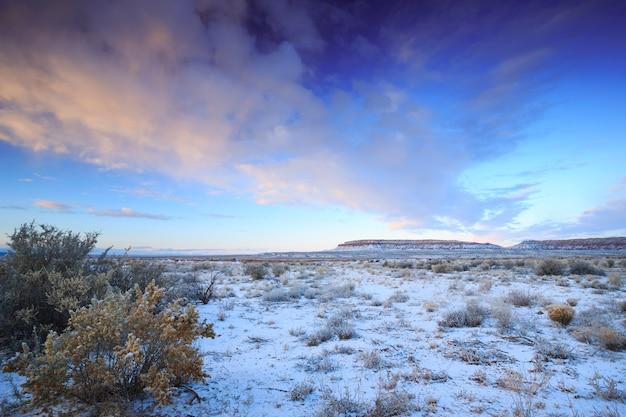 Arizona desert scenic winter morning sunrise