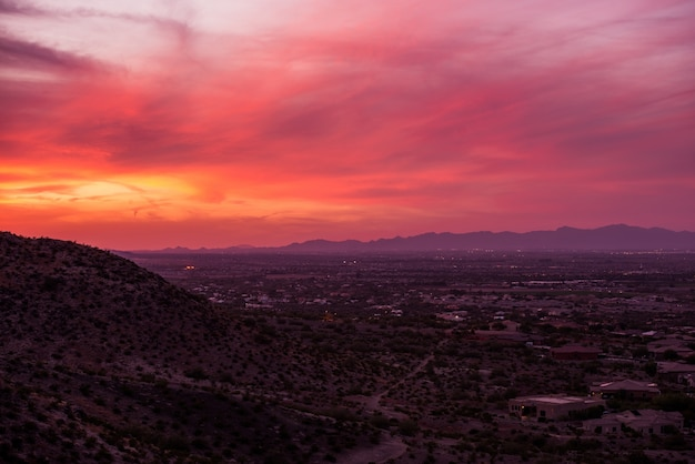 Arizona sunset scenery