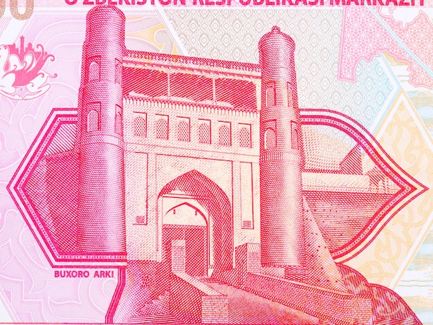 Ark citadel in bukhara from uzbekistani money