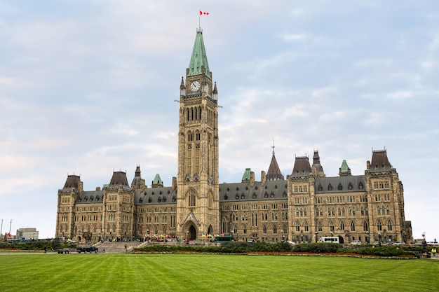 Arliament of canada on parliament hill during the speech of president of ukraine petro poroshenko at the joint meeting of the house of commons and senate