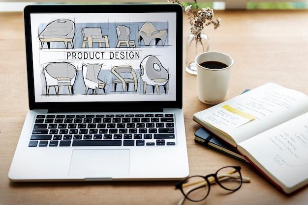 План эскиза мебели для кресла