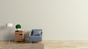 Armchair relax leisure,3D rendering