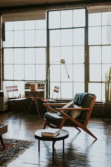 Armchair in a rustic home