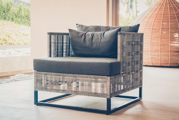 Armchair with a cushion