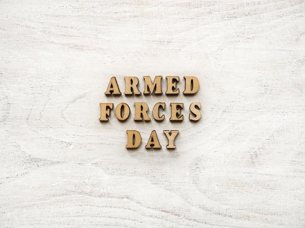 국군의 날. 아름다운 인사말 카드.