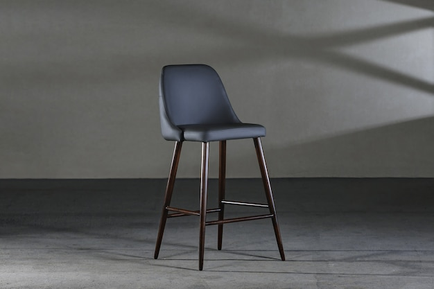 Armless chair with a concave back, loft-style furniture