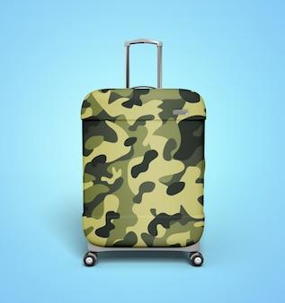 Army camo suitcase