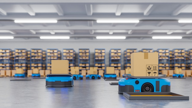 An army of robots efficiently sorting hundreds of parcels per hour