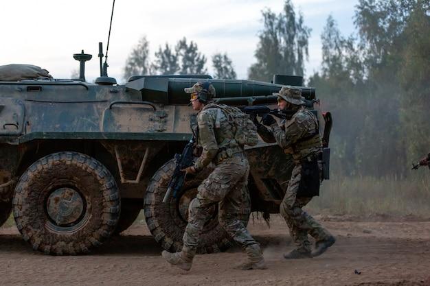 Солдаты армии во время военной операции