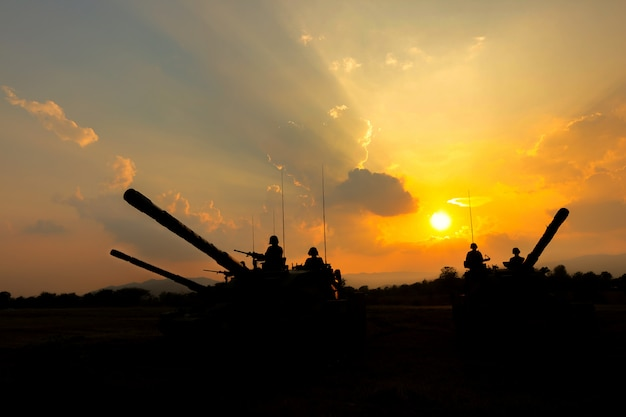 Army tank silhouette