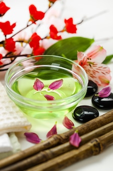 Aromatherapy accessories in spa