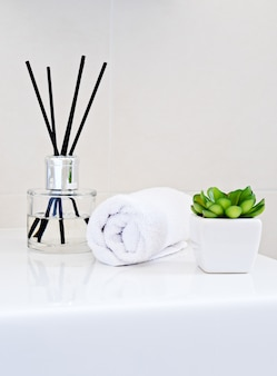 Aromatherapy bottle diffuser with sticks