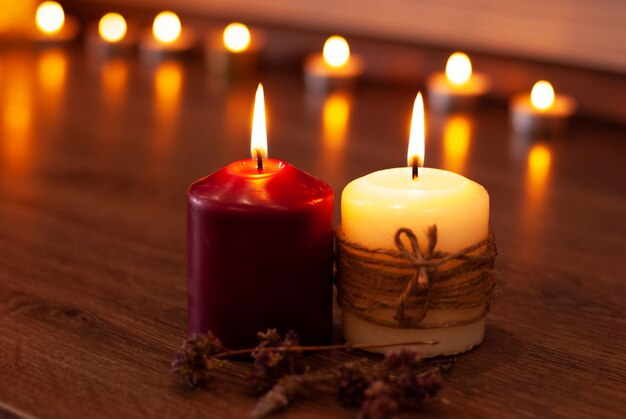 Aromatherapy flame of vanilla candles