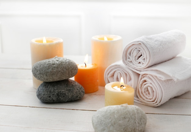 Aromatherapy treatment with candles