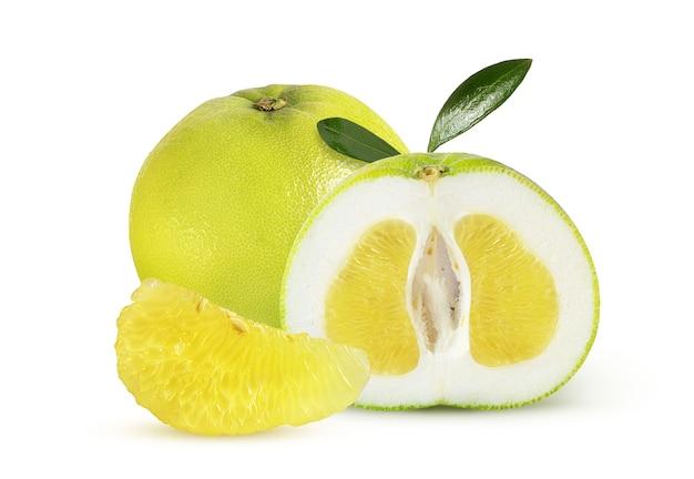 白地に芳香とジューシーな甘い柑橘類の品種