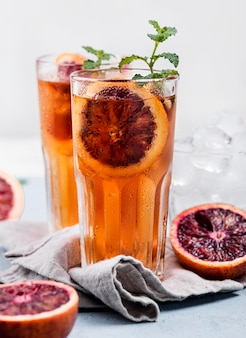 Aromatic fruit ice tea