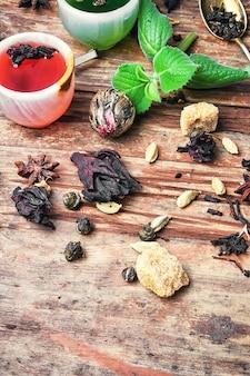 Aromatic herbal tea