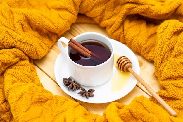 Aromatic hot cinnamon tea