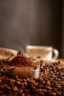 Aromatic morning coffee