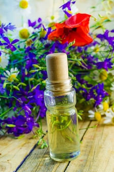 Aromatic oil with the scent of wild flowers for spa