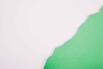 Arrange of green on white